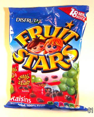 Disfruta - Fruit stars - raisins